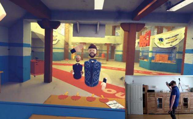 Jonglieren in der virtuellen Realität