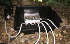Verkabelt: HM-LC-Sw4-SM für Außenbeleuchtung